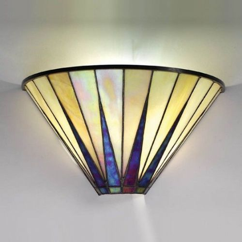 Dark Star Wall Light (Art Deco, Wall Lamp) TG08W (Tiffany style)